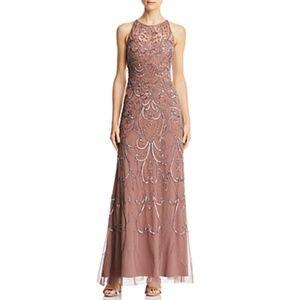 Aidan Mattox Sleeveless Beaded Gown Dress
